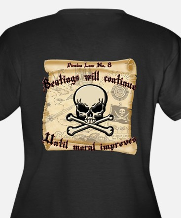 Pirates Law Women's Plus Size V-Neck Dark T-Shirt