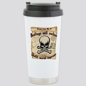 Pirates Law #8 Stainless Steel Travel Mug