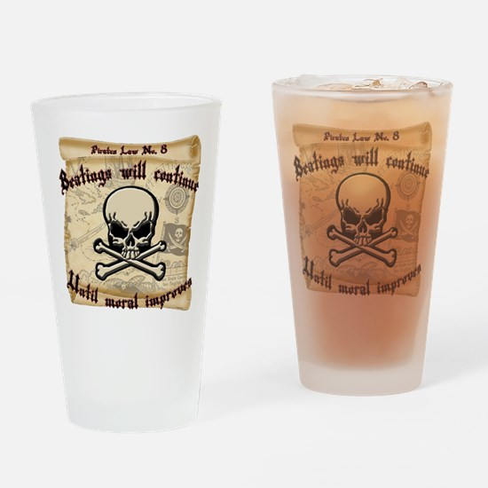 Pirates Law #8 Drinking Glass