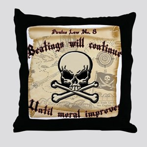 Pirates Law #8 Throw Pillow
