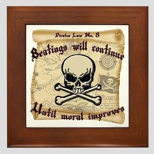 Pirates Law #8 Framed Tile