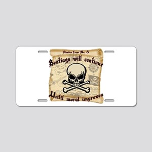 Pirates Law #8 Aluminum License Plate