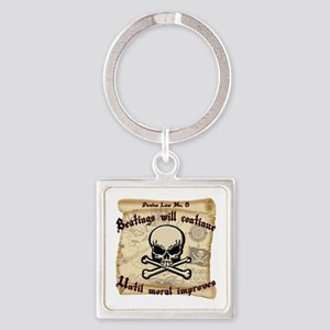 Pirates Law #8 Square Keychain