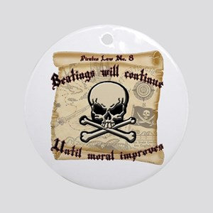 Pirates Law #8 Round Ornament