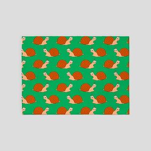 Cute Garden Snail Pattern 5'x7'Area Rug