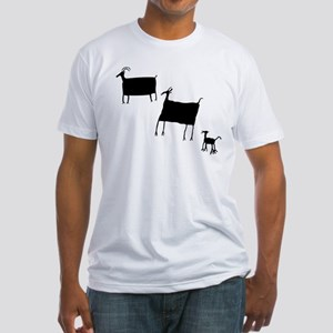 Rock Art Herd Animals - Black T-Shirt