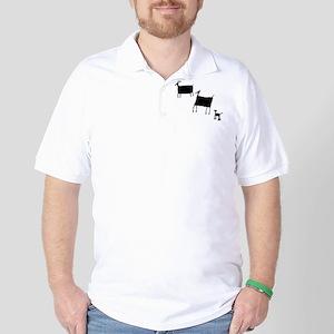 Rock Art Herd Animals - Black Golf Shirt