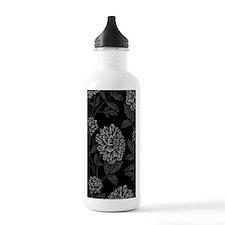 Black Dahlia Pattern Water Bottle