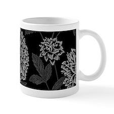 Black Dahlia Pattern Mugs