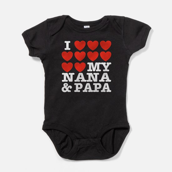 I Love My Nana and Papa Baby Bodysuit