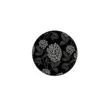 Black Dahlia Pattern Mini Button