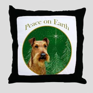 Irish Terrier Peace Throw Pillow