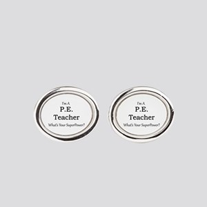 P.E. Teacher Oval Cufflinks