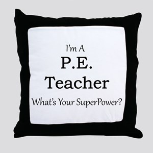 P.E. Teacher Throw Pillow