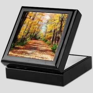 Autumn Road Keepsake Box