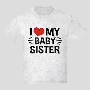 I Love My Baby Sister Kids Light T-Shirt