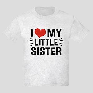 I Love My Little Sister Kids Light T-Shirt