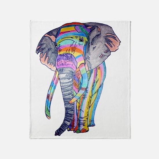 Rainbowphant Throw Blanket