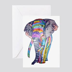 Rainbowphant Greeting Card