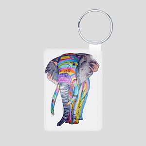 Rainbowphant Aluminum Photo Keychain