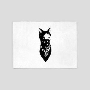 Cat Bandana 5'x7'Area Rug