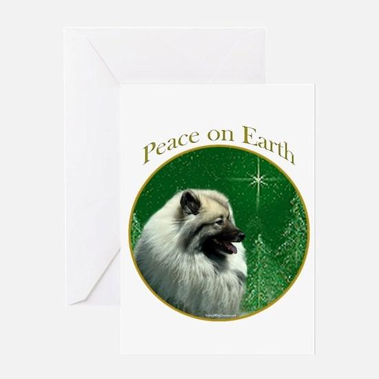 Keeshond Peace Greeting Card