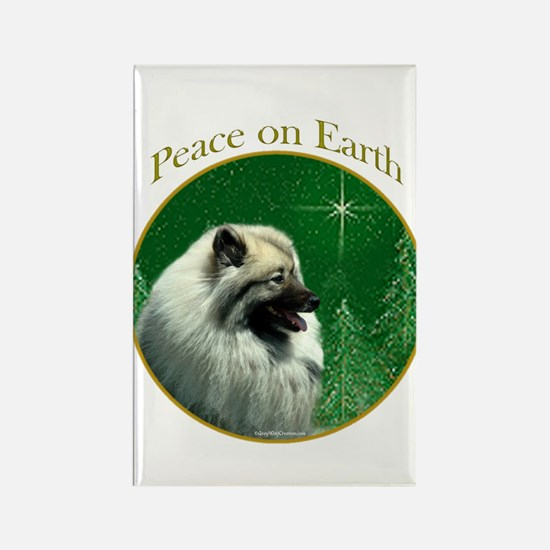 Keeshond Peace Rectangle Magnet