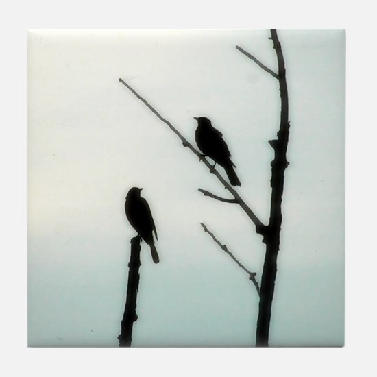 Cute Two birds Tile Coaster