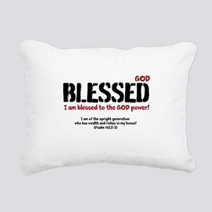 Blessed to the GOD Power Rectangular Canvas Pillow