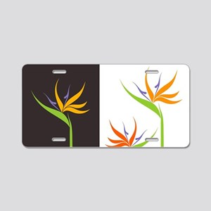 Bird of Paradise Flowers Aluminum License Plate