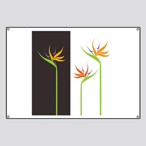 Bird of Paradise Flowers Banner