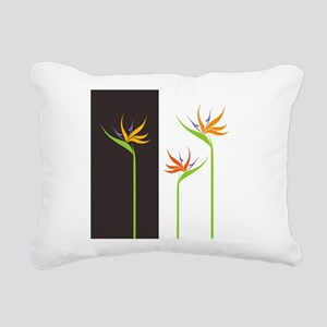 Bird of Paradise Flowers Rectangular Canvas Pillow