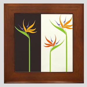 Bird of Paradise Flowers Framed Tile