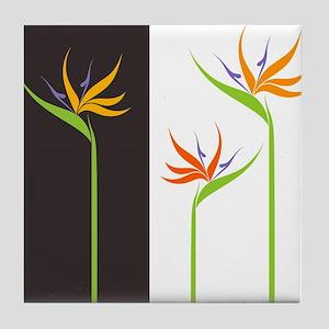 Bird of Paradise Flowers Tile Coaster