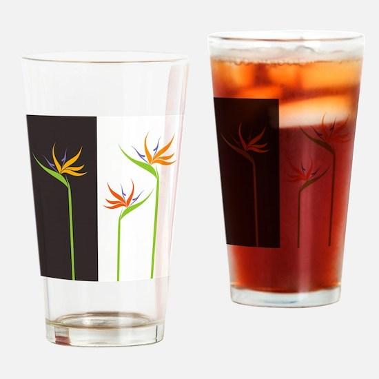 Bird of Paradise Flowers Drinking Glass
