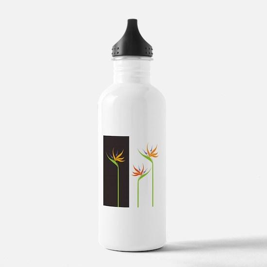 Bird of Paradise Flowers Water Bottle
