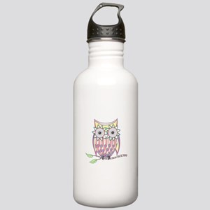 Colorful Owl Water Bottle
