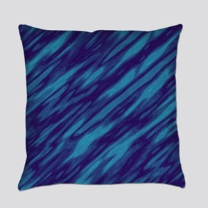 Shades of Blue Everyday Pillow