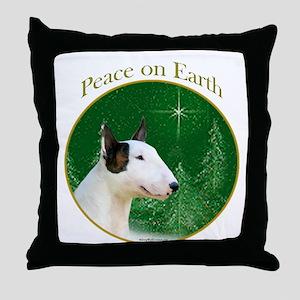 Mini Bull Peace Throw Pillow