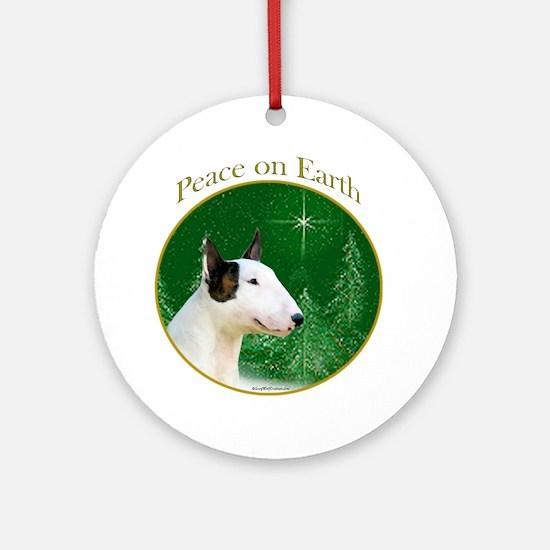 Mini Bull Peace Ornament (Round)