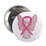 "Breast Cancer Pink Angel 2.25"" Button (10 Pac"