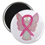 Breast Cancer Pink Awareness Ribbon Angel Magnets