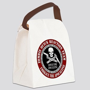 Zombie Quick Reaction Team Canvas Lunch Bag