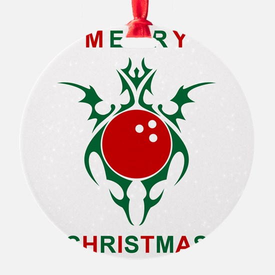 merry christmas bowling Ornament