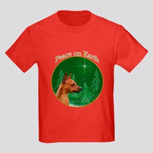 Min Pin Peace Kids Dark T-Shirt