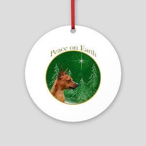 Min Pin Peace Ornament (Round)