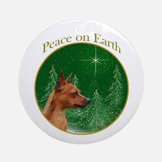 Min Pin Peace Ornament (Round)