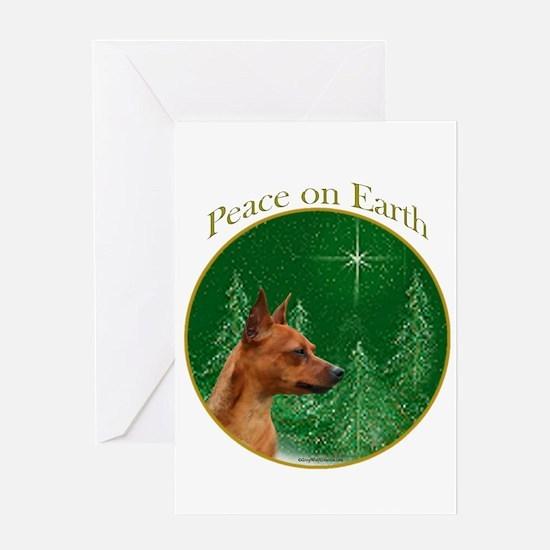 Min Pin Peace Greeting Card