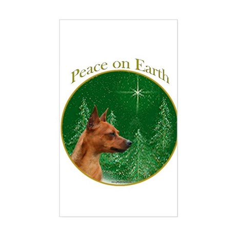 Min Pin Peace Rectangle Sticker