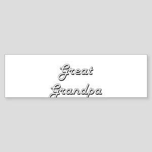 Great Grandpa Classic Retro Design Bumper Sticker